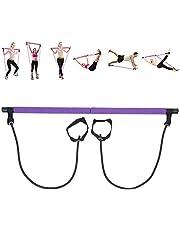 Pilates Bar Stick Yoga Weerstandsband Draagbaar Home Fitness Sport Training Elastiekjes Trainingsapparatuur Workout Trekstang Fitness Pilates Bar
