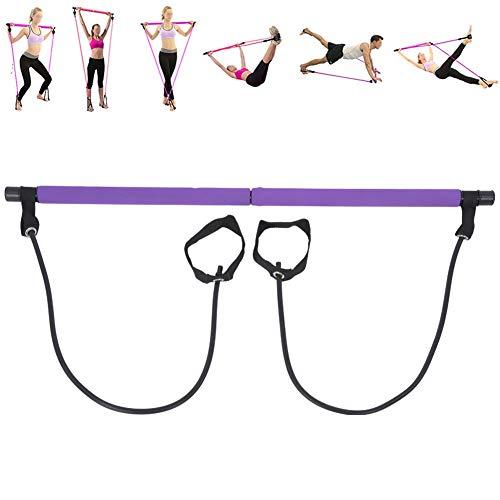 Pilates Bar Stick Yoga Resistance Band Portable Home Fitness Allenamento sportivo Fasce elastiche Attrezzatura per allenamento Allenamento Pull Rod Fitness Pilates Bar