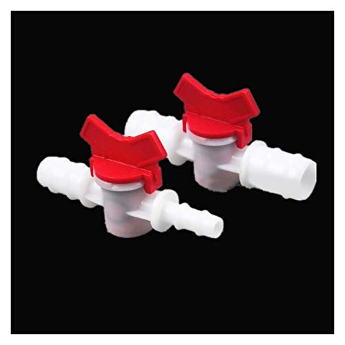 Accesorios de tubería 4 mm 6 mm 8 mm 10 mm 12 mm 16 mm 20 mm-manguera Barba de dos vías de bola de plástico de dos vías jardín de acuario micro conector de riego Boquilla de grifo de manguera de jardí