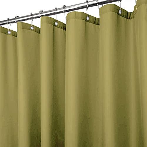 Duschvorhang, Vinyl, mit Metallösen, wasserabweisend, Khaki