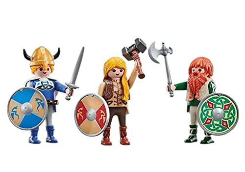 PLAYMOBIL Pack de 3 Vikingos 9893