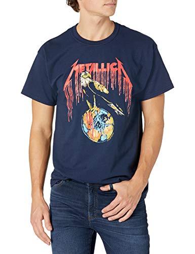 Metallica Unisex Eagle 1994 Tour T-Shirt, Navy Blue, S to XXL