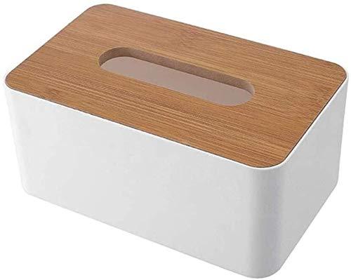 KBYX Tissue box Desktop Bamboo Tissue Box Creative Multifunktionell mobiltelefon Vardagsrum Tissue Box Car Composite trä, träkomposit (Color : Composite Wood)