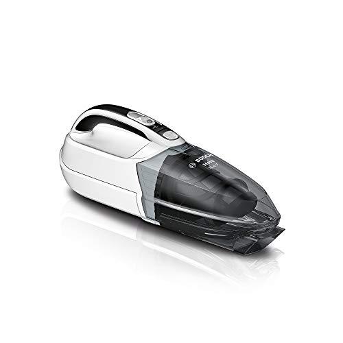 Bosch Handstaubsauger Move 14.4V BHN14N, Akku-Staubsauger, ideal für Polster und Auto, beutellos, kabellos, leicht, hohe Saugkraft, lange Laufzeit, umweltfreundliche NiMH-Batterie, weiß