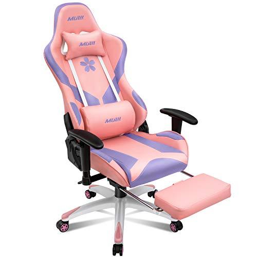 Muzii Pink & Purple Gaming Chair