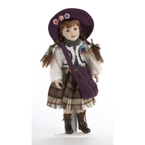 Delton 10 Inches Porcelain Sweater Doll, Purple