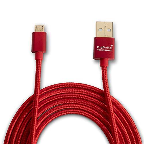 BigBuild Technology Cable de carga y transferencia de datos para Lenovo TAB 10, 2 A10, 2 A7 30, 3 10 Plus, 3 A7 30F, 4 10, 4 8, 7 Essential Tablet, 6 pies, 5 pulgadas, chapado en oro