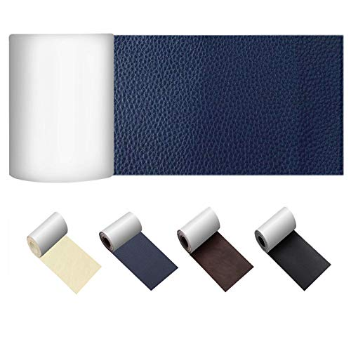 limerenc Leather Repair Patch, Self-Adhesive Leather Tape, Leather Repair Kit for Couches, Sofa, Furniture, Car Seat, Jacket | No Heat Required Leather Patch 3 x 62 inch-Navy Blue