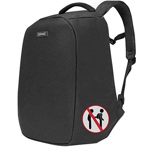 Duronic LB22 Anti-Theft Laptop MacBook Backpack   Rucksack   Travel Bag   University   College  School   13.3' – 15.6' Internal Laptop Sleeve   Water Resistant
