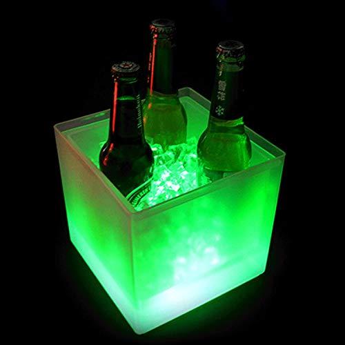 Cubiteras De 3.5L, Cubiteras Para Botellas Hielo Colorido Led, Cubo De Hielo Con Cambio De Color Automático, Fiesta, Hogar, Bar Club Tema Restaurante Pub Vino Bebida Jugo Cerveza