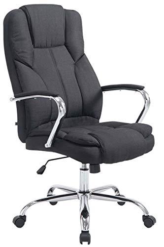 CLP XXL Bürostuhl Xanthos Mit Polsterung Und Stoffbezug I Höhenverstellbarer Schreibtischstuhl I...