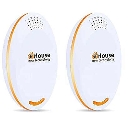 AC12 Ultrasonic Pest Repeller - Electronic Plug in Best Repellent - Pest Control - Get Rid of - Rodents Squirrels Mice Rats Insects - Roaches Spiders Fleas Bed Bugs Flies Ants Mosquitos Fruit Fly!
