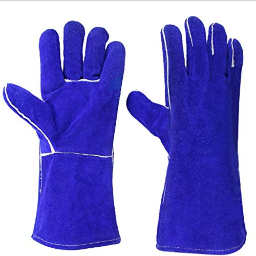 Tweelaags verlengde en dikkere hittebestendige handschoenen zweet van Rind Welder.