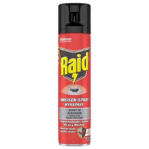 Raid Paral Ameisen-Spray, Insektenspray zur Bekämpfung von Ameisen, Silberfischen, Spinnen, Schaben, 400ml