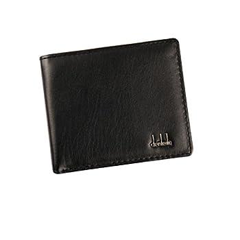 Clearance! Mens PU Leather Wallet Tloowy Vintage Slim Bifold Business Wallet Card Holder Case for Men  Black