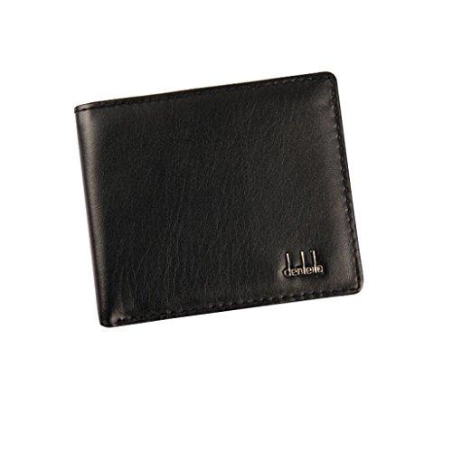 Clearance! Mens PU Leather Wallet, Tloowy Vintage Slim Bifold Business Wallet Card Holder Case for Men (Black)