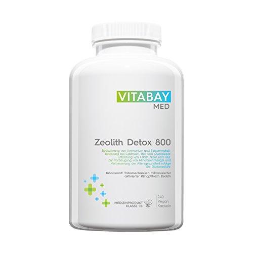 Zeolith Detox 800 - Medizinprodukt 95% Klinoptilolith zur Entgiftung 240 Kapseln