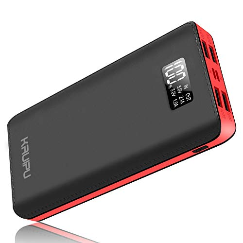 Power Bank 24000mAh Portable Charger Battery Pack 4 Output Ports Huge Capacity Backup Battery Compatible Android Phone and Other Smart Phone