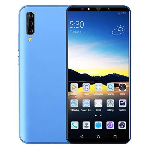 BIYI A70 teléfono inteligente de 6.0 pulgadas 4GB RAM + 64GB ROM Teléfono SIM dual Teléfono móvil Desbloquear teléfono Teléfono inteligente Alto rendimiento Azul