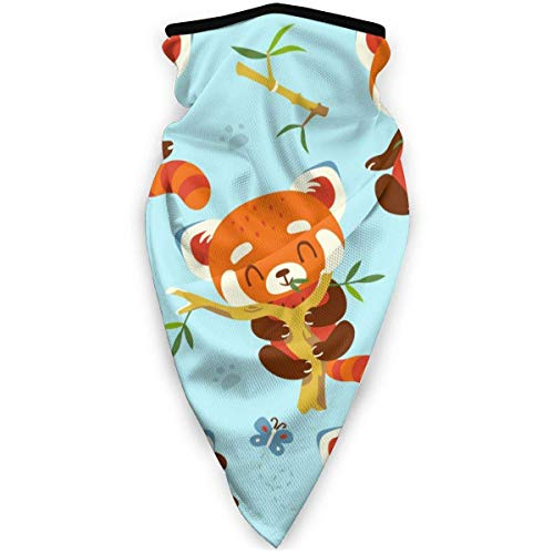 Red Panda Set Outdoor Windproof Sports Scarf Face Cold Scarf Neck Warm Headband Headscarf
