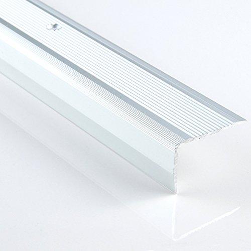 [DQ-PP] 1 x ALU PROFIL -L- Winkelprofil - Winkelmaße: 40 x 25, Farbe: silber, Länge: 200cm Treppenkanten Winkelprofil Treppenwinkelprofil Treppenprofil Treppenkantenprofil NEU