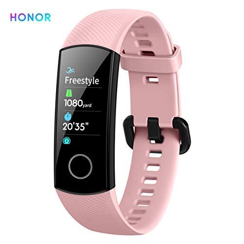 HONOR Band 5 Pulsera de Actividad Inteligente de Deporte Fitness Tracker IP68 Smartwatch con Notificación y Monitor de Pulsómetro, Blood Pressure, Sueño, Podómetro Android y iOS Rosa (Versión Global)