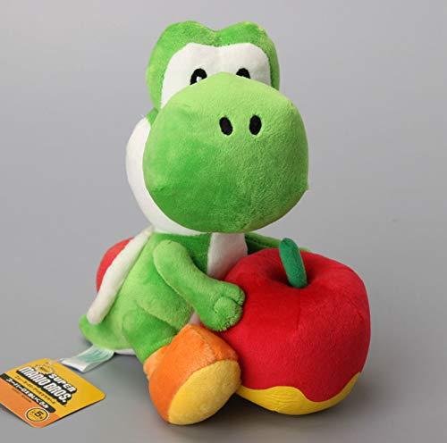 """lili-nice Peluches Super Mario Bros Yoshi con Muñecos De Peluche Apple Soft Regalo para Niños 8\""""20 Cm"""