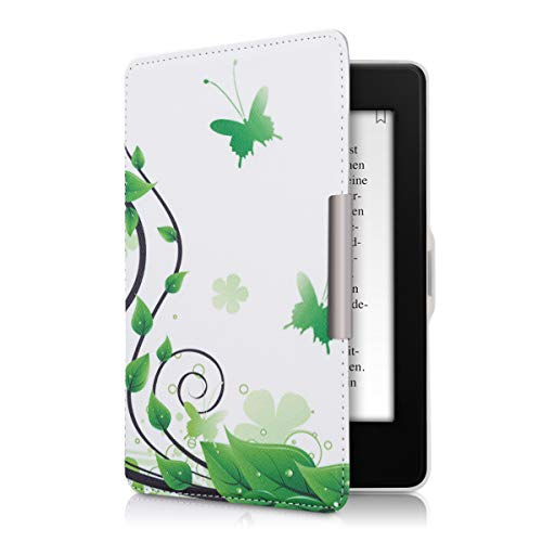 kwmobile Funda Compatible con Amazon Kindle Paperwhite - para eReader - Mariposas (para Modelos hasta el 2017)