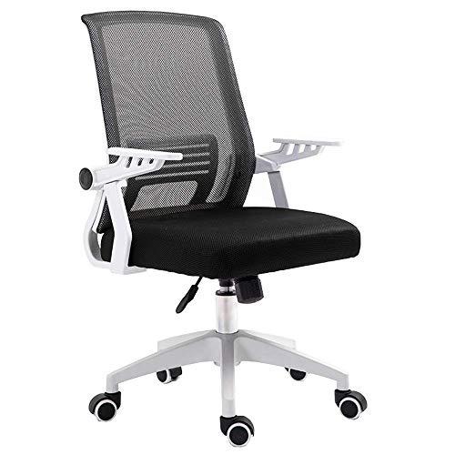 JIEER-C Camere Letto Home Office Desk draaistoel 90 ° leuning frame mesh ademende stoel Home Studio PP lager gewicht 150 kg multicolor optioneel (kleur: zwart) zwart.