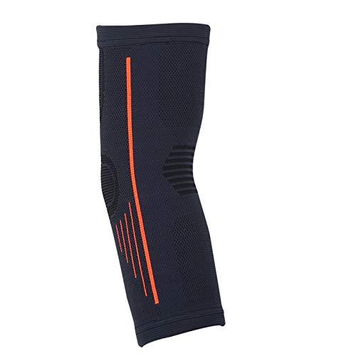 DAUERHAFT Codo Transpirable en Material de Nailon Negro y Naranja, para Entrenamiento de Voleibol