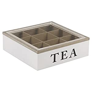 URBNLIVING 9Section Boîte à thé Blanc délavé
