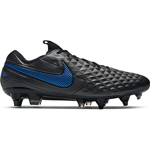 Nike Herren Legend 8 Elite Sg-Pro Ac Fußballschuhe, mehrfarbigr schwarzer schwarzer Blauer Held 4, 43 EU