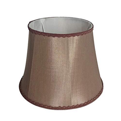 Pantalla Cónica de Diseño Tradicional, Pantalla de Tela de Algodón E27, Apta para Lámpara de Mesa, Lámpara de Pie, Lámpara de Pared, A, 35CM