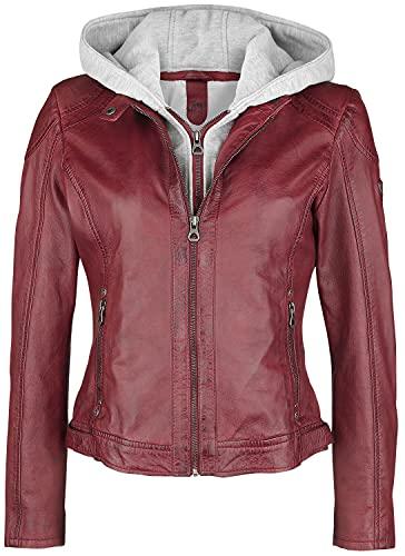 Gipsy Angy S18 LAMAS Mujer Chaqueta de Cuero Rojo XXL, 100% cuero, Regular