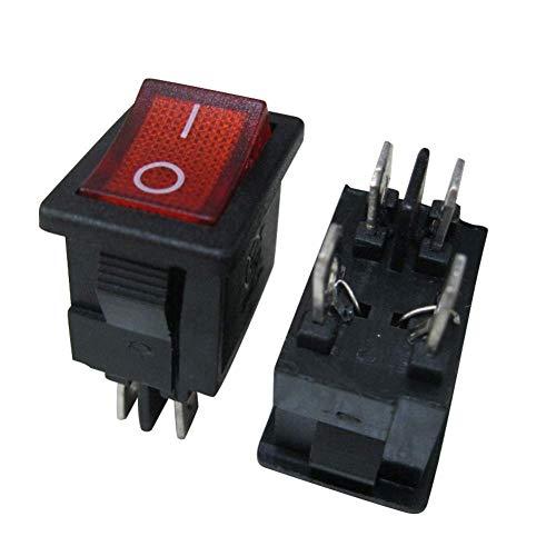 Preisvergleich Produktbild TWTADE XW-601BA1 Rotes Licht beleuchtet An / Aus DPST 4-polig 2 Positionen Mini Boot Wippschalter Auto Auto Boot Wippschalter Snap AC 250V / 10A 125V / 12A (Qualitätssicherung für 1 Jahre)