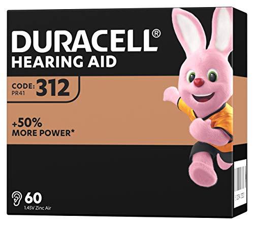 Duracell Hörgerätebatterien Größe 312, 60er Pack