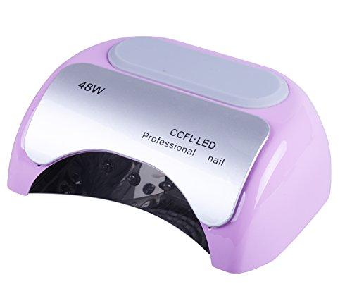 Crisnails Secador de Uñas de Inducción Automático con Temporizador CCFL + LED UV Lámpara de Luz para Clavo de 110-220V 48W, Varios Colores