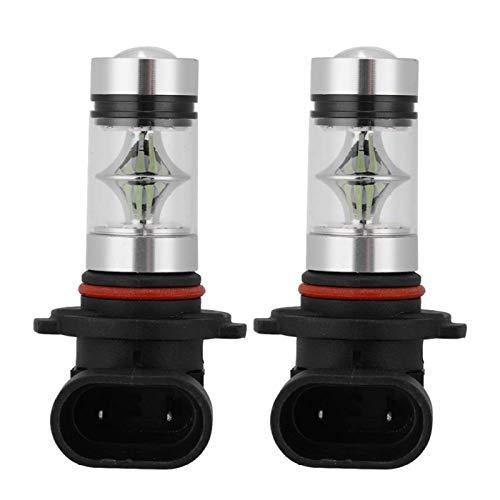 Lámpara de luz antiniebla para faros delanteros de coche, 2 uds 9005 H10 9145 8000K Azul hielo 100W Bombillas de faros LED Lámpara de luz antiniebla