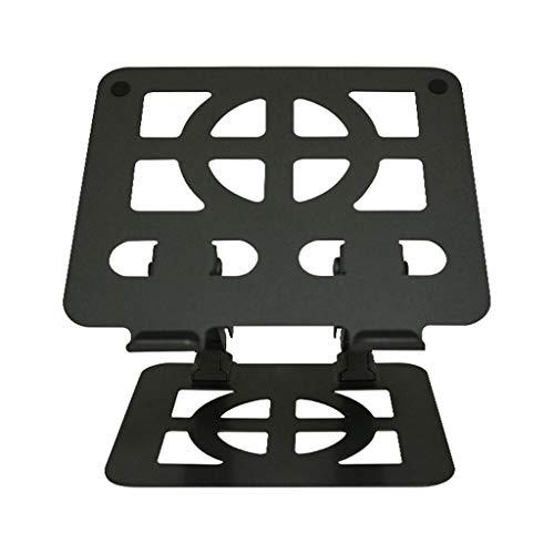 Monitorstandaard voor laptops en tablets van 18 inch en hoger, zwart zilver, metaal 1-4 Zwart