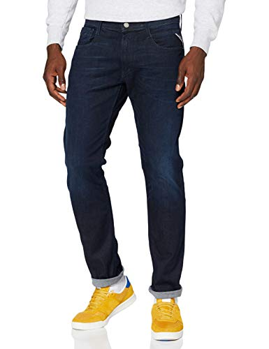REPLAY Anbass Jeans, Blu Scuro 781, 38W / 32L Uomo