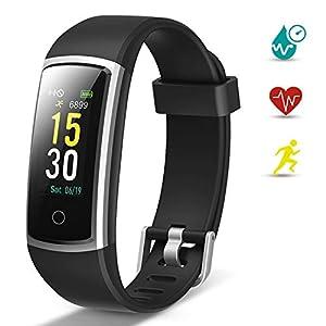 Lintelek Pulsera Actividad, Reloj Inteligente con Medidor de Ritmo Cardíaco Presión Arterial, Reloj Deportivo Compatible… 10