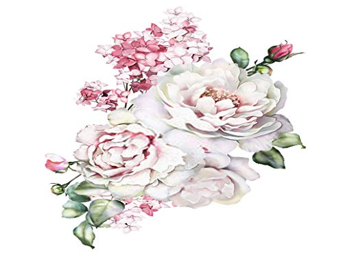 Sayakki DIY 5D Diamond Painting Kits Peony Watercolor Flower Leaves Full Drill Embroidery with Diamond for Home Wall Decor Gift 14X20 Inch