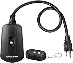 DEWENWILS Outdoor Remote Control Outlet with 2 FT Long Extension Cord, 15 AMP Heavy Duty Weatherproof Wireless Remote Controlled Light Switch, 100 Feet Range, UL Listed