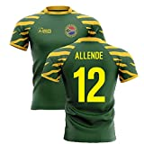 Airosportswear 2020-2021 South Africa Springboks Home Concept Rugby Football Soccer T-Shirt Maillot (Damian De Allende 12)