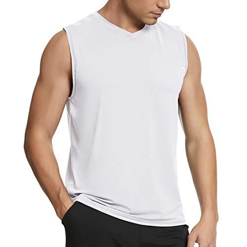 MEETYOO Debardeur Homme, T-Shirt sans Manches Maillot Running Tee Shirt pour Sports Jogging Musculation