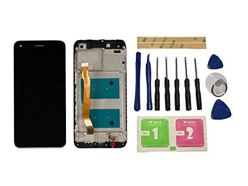 Flügel für Huawei Y6 PRO 2017 SLA-L02 SLA-L22 SLA-TL00 / Enjoy 7 / P9 Lite Mini Bildschirm LCD Ersatzdisplay Schwarz Touchscreen Digitizer Display Komplett mit Rahmen Ersatzteile und Werkzeuge und Kleber