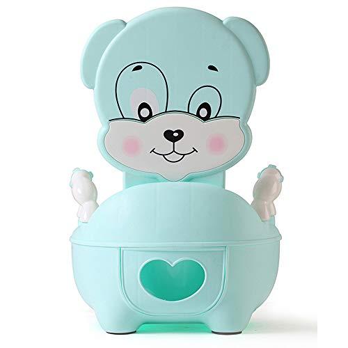 QIANGUANG® Kinder WC Sitz Baby Kleinkind Trainer Töpfchen WC-Sitz (Hund blau)