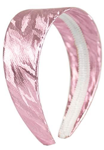 Evil Wear Haar-Reif Damen Haarreifen Haar-Spange Haarreifen im edlen Glanz Haar-Reifen (pink) 4416