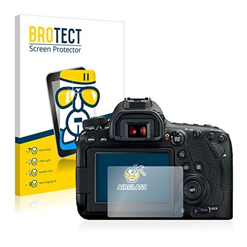 BROTECT Panzerglas Schutzfolie kompatibel mit Canon EOS 6D Mark II - AirGlass, 9H Härte, Anti-Fingerprint, HD-Clear