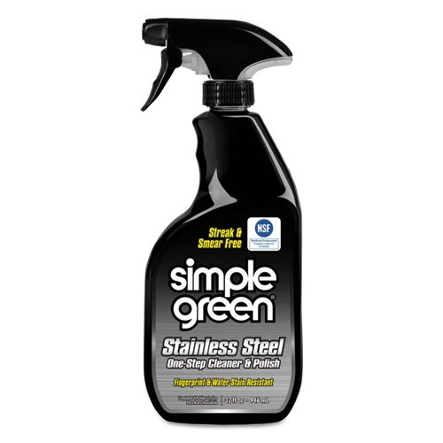 Simple Green Simple Green Stainless Steel Cleaner, Nontoxic, 32oz, 12/CT
